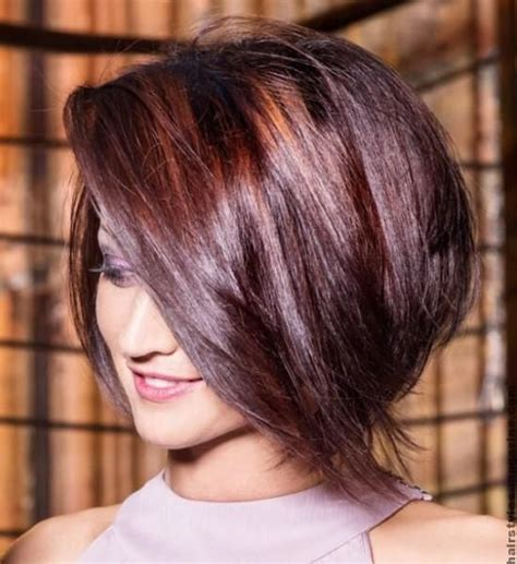 bob hairstyles magazine stacked bob long layered bob haircuts with bangs look like