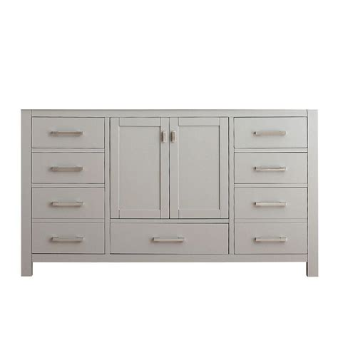 Vanity Cabinet Only avanity modero 60 in vanity cabinet only in chilled gray