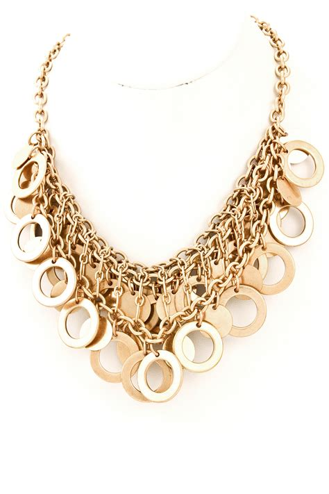 layered open disc necklace necklaces