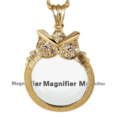 New Arrival Fashion Reading 2x Magnifying Glass Pendant Necklace aliexpress buy design white color necklaces with owl shape 2x magnifying