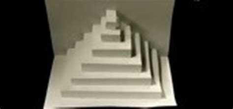 How To Make A Pyramid From Paper - origami triangle pyramid step studio design gallery