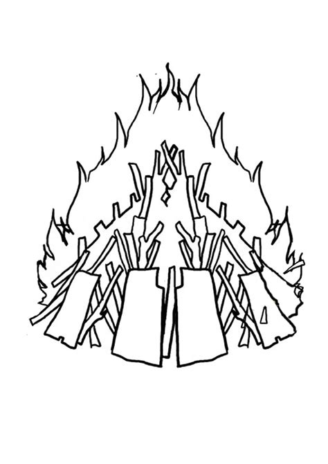 Bonfire Night Free Colouring Pages Bonfire Colouring Pages