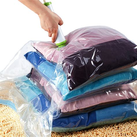 Project Plastik Vakum Kompresi Organizer Vacuum Plastic Bag 4pcs Idealife Vacuum Bag Isi 6 Vacum Tas Plastik Bonus 1 Pompa Elevenia