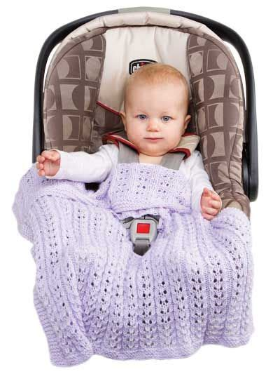 Knitted Car Seat Blanket by S Infant Knitted Car Seat Blanket Knitting And