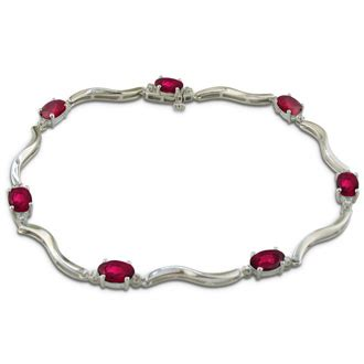 Ruby 11 3ct 3ct ruby and bracelet sterling silver july
