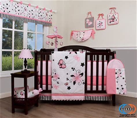 Pink Butterfly Crib Bedding Baby New Pink Butterfly 13 Nursery Crib Bedding Set