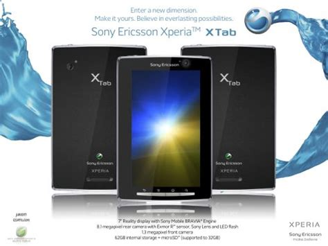 Hp Tablet Sony Ericsson sony ericsson x tab is the xperia tablet concept phones