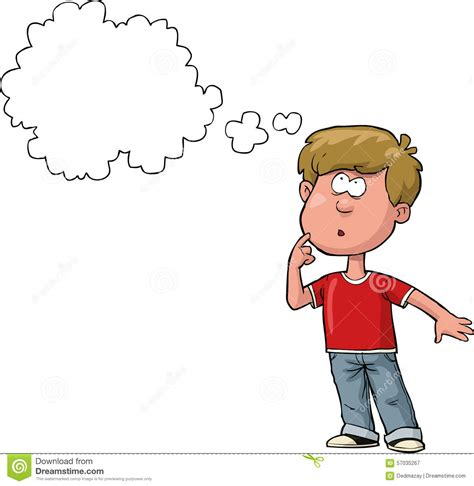 thinking from a to boy thinking stock vector image 57035267