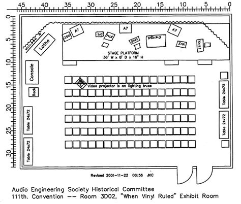 javits center floor plan direct to disc at aes recording plan