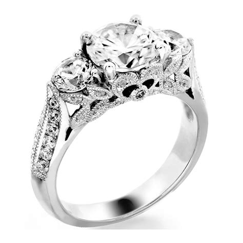 styles of vintage engagement rings three ring vintage style stones jewelry
