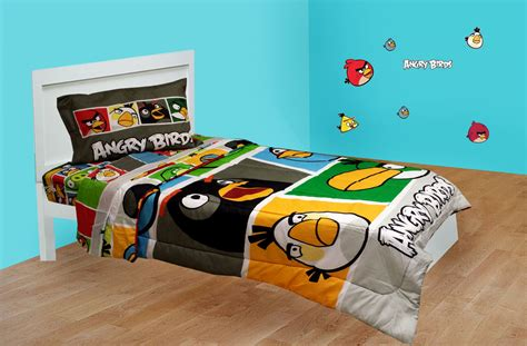 video game comforter sets angry birds twin bedding set 4pc bold video game