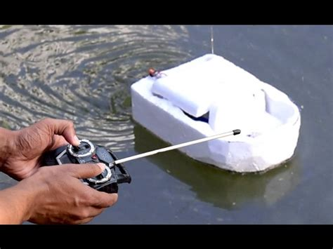 how to make a paper rc boat how to make a remote control boat very easy how to make