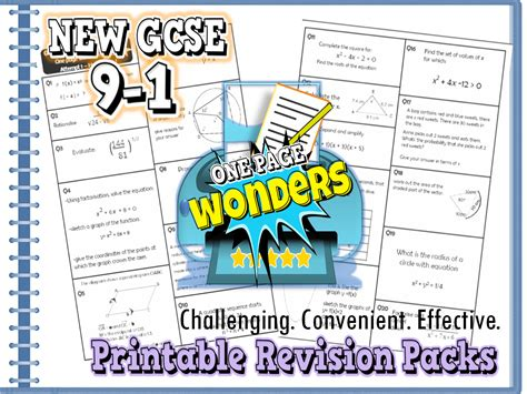 teaching new year ks2 new gcse 9 1 maths revision packs bundle including