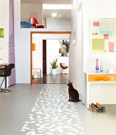 painted floor top 10 stencil and painted rug ideas for wood floors