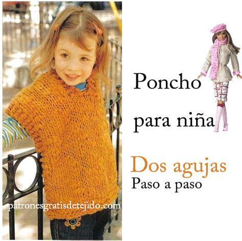 poncho para ni a en crochet y agujas circulares tricot poncho para ni 241 a para tejer en una tarde paso a paso
