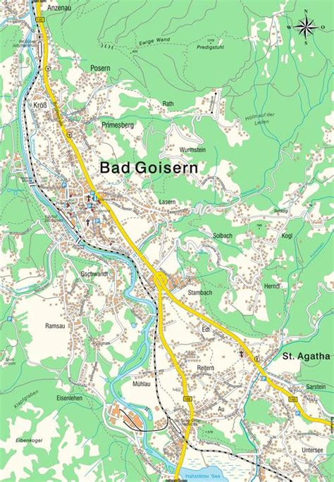European Home map bad goisern ober 246 sterreich austria maps and