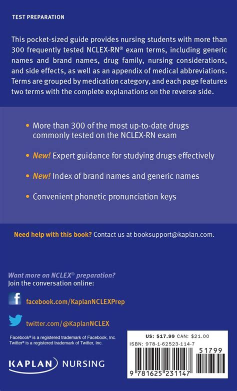 nclex rn guide 300 medications you need to for the kaplan test prep nclex rn guide 300 medications you need to for