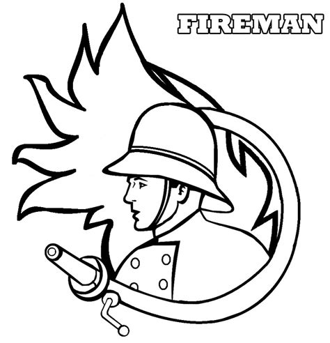 Firefighter Helmet Coloring Page Coloring Pages Fireman Coloring Pages
