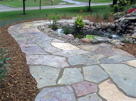 Small Flagstone Patio by Outdoor Entertainment Areas And Hardscapes Are The New