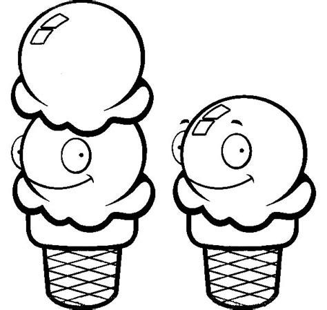 coloring pages ice cream scoops ice cream scoop coloring sheet clipart best