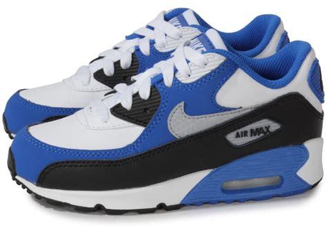 Chausures Air Nike Air Max 90 Enfant Blanche Et Bleue Chaussures Chaussures Chausport