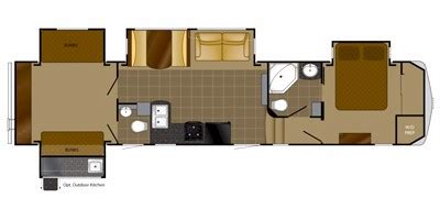 heartland travel trailer floor plans 2014 heartland rvs bighorn silverado sv 37qb floorplan