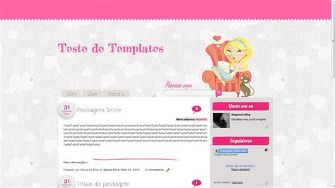 templates blogger personalizados sweet templates template mariana free