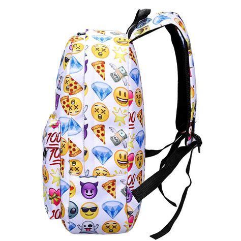 Tas Ransel Multi tas ransel wanita model emoji multi color
