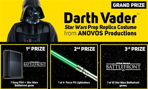 Gamestop May The 4th Sweepstakes - gamestop offers new starwars products your chance to win a darthvader costume on