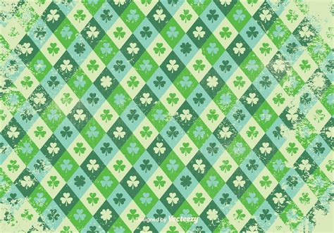 grunge background pattern vector grunge style shamrock vector pattern download free