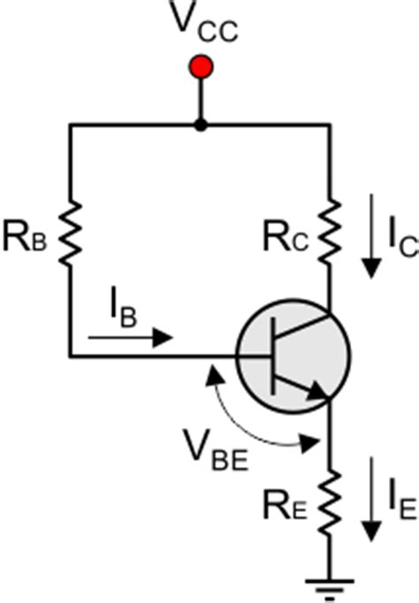 fixed bias or base resistor method bjt transistor theory