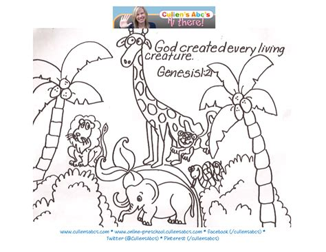 coloring pages creation animals story of creation online preschool and children s videos