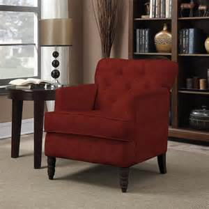 Red chenille arm chair living room seat furniture accent ebay
