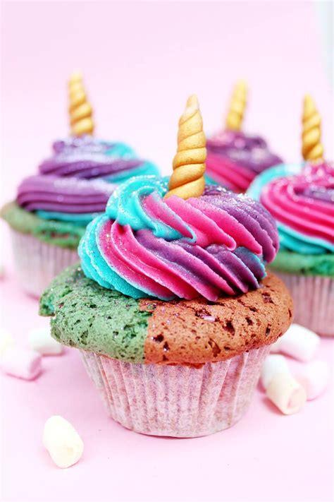 einfaches kuchen rezept einhorn cupcakes backen einfaches muffin rezept kuchen