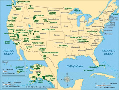 national parks usa map united states map of national parks