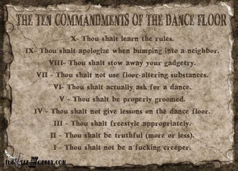 The Ten Commandments the 10 commandments of the social floor the jazz
