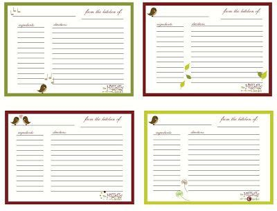 Can I Find A Customizable Recipe Card Template by Recipe Binder Free Template Clipart Best