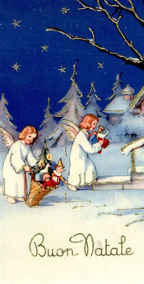 fashioned italian christmas  christmas cards vintage christmas merry christmas
