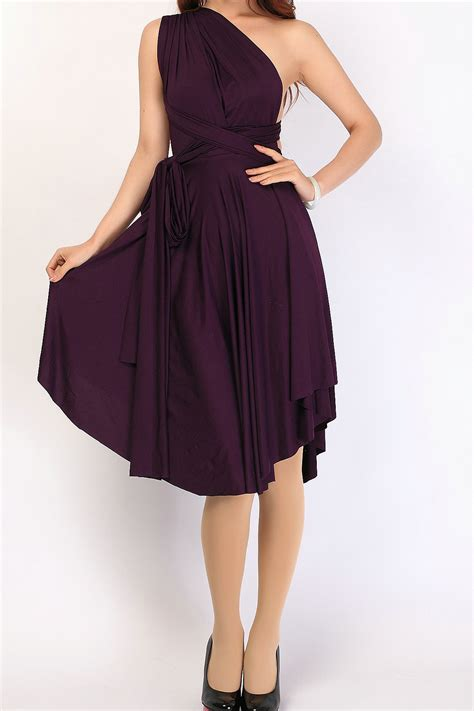 www dress eggplant triangle convertible infinity dress bridesmaid