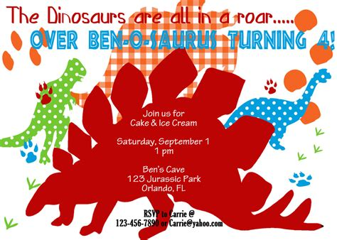 printable dinosaur invitation cards dinosaur invitation printable birthday party by luvbugdesign