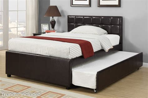 full size bed poundex f9215f full size bed with trundle in los angeles ca
