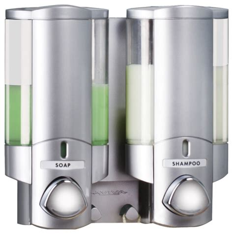 aviva bathroom dispensers aviva soap and shoo dispenser satin silver