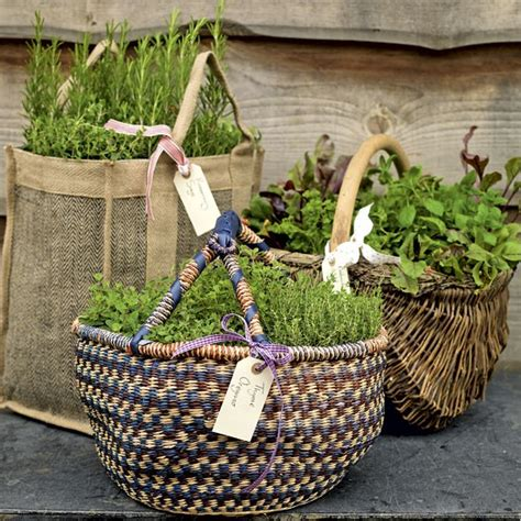 Garden Basket Ideas Ideas Herb Garden Baskets