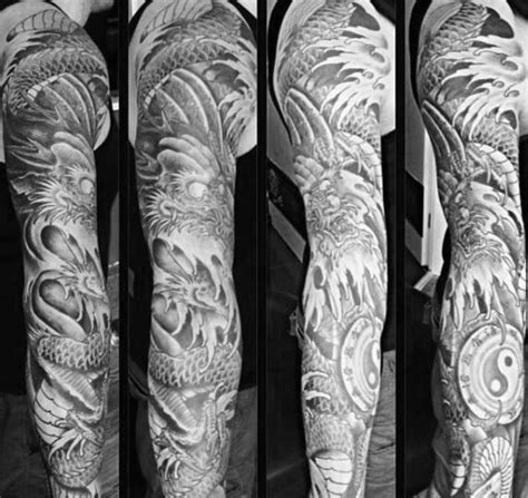 japanese yin yang tattoo 90 japanese dragon tattoo designs for men manly ink ideas