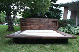 Platform Beds Made With Pallets Bedroom Interesting Japanese Style Bed Frame On
