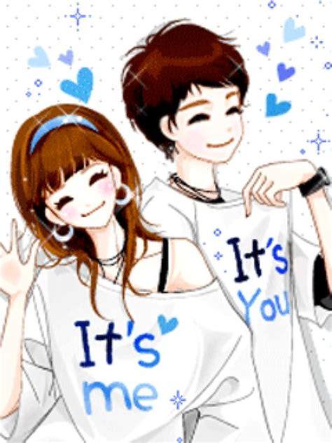 wallpaper animasi love couple korean animated cute love by hanen 11269768 i ntere st