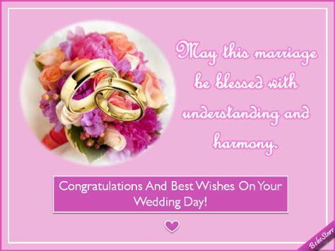 Wedding Announcement Best Wishes by Understanding And Harmony Free Congratulations Ecards