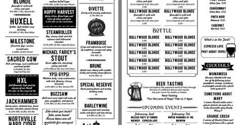 fun beer menu template menu designs pinterest menu