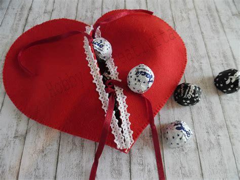 porta cioccolatini cuore porta cioccolatini in feltro per san valentino