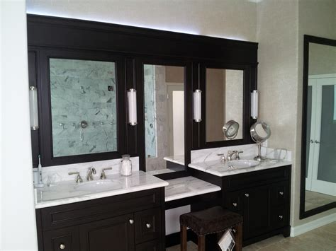 Bathroom Vanity Bench Wood Bathroom White Wooden Cabinet And Sink Plus Makeup Table